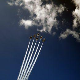 Airshow - F-16C Fighting Falcon der U.S. Air Force Thunderbirds