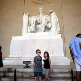 Lincoln: Hate eine großartigen Blick über das Washington Memorial zum Capitol