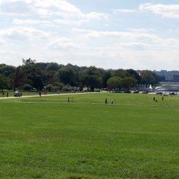 Blick über die National Mall vom Washington Memorial