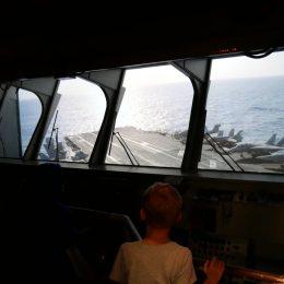 Simulation einer Flugzeugträgerbrücke